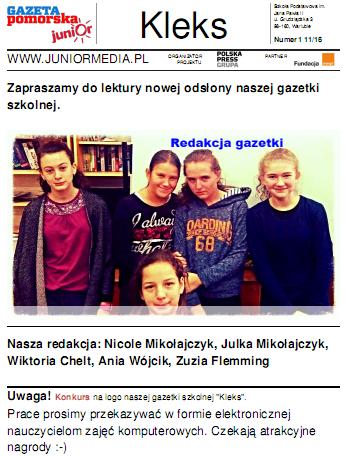 Nowa gazetka szkolna